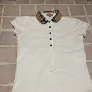 Burberry Brit - women's white polo style shirt